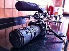 Nikon D7000 + 80200mm Lens + Rode Video Microphone - front angled.jpg