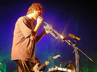 2001 in Norwegian music - Nils Petter Molvaer 2001 at the Global Tempera, in Tromsø.