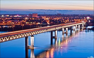 Nizhny Novgorod Metro - Metro bridge over the Oka River
