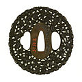 Noda Mitsuhiro II - Tsuba with One Hundred Monkeys - Walters 51112 - Back.jpg