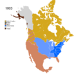 Non-Native American Nations Control over N America 1803.png