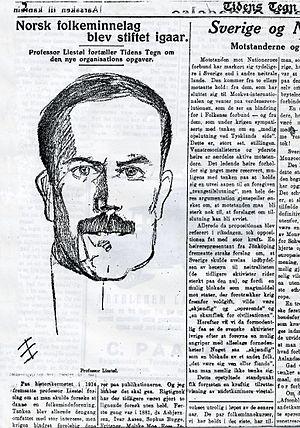 Knut Liestøl - Knut Liestøl in Tidens Tegn 1920