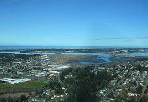 North Bend, Oregon - North Bend from above, looking toward the Pacific Ocean