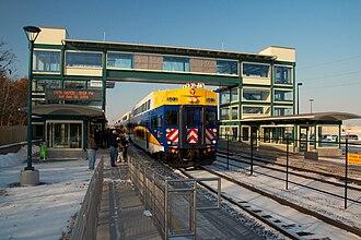 Coon Rapids–Riverdale station - Image: Northstar Commuter Coon Rapids Riverdale station