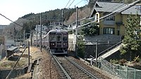 Noseden 7200 test run at Tokiwadai Station.jpg