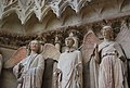 Notre-Dame Cathedral of Reims three statue details.jpg