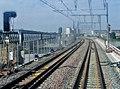 Nouveau Pont ferroviaire de Bordeaux et passerelle vus du train (2008) 3.JPG
