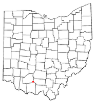 Location of Sinking Spring, Ohio