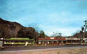 Oak Glen, San Bernardino County, California - Rustic storefronts in Oak Glen, California