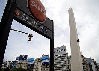 Carlos Pellegrini (Buenos Aires Underground) - Image: Obelisco subte