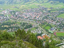 Oberammergau from the summit of Kofel