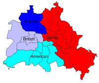 Quadripartite division of Berlin