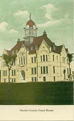 The Oconto County Court House, circa 1910.