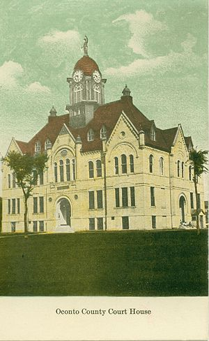 The Oconto County Court House, circa 1910