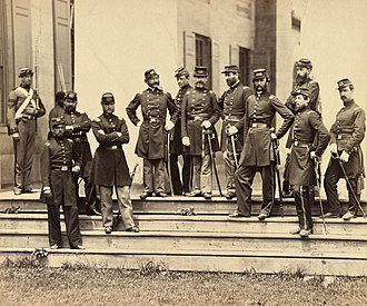 Arlington House, The Robert E. Lee Memorial - Officers of the 8th New York State Militia at Arlington House, June 1861