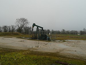 Hydraulic fracturing in the United Kingdom - Oil well in Lincolnshire. Around 200 onshore wells such as this have been hydraulically fractured.
