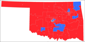 Oklahoma Senate - Image: Oklahoma senate districts july 2017