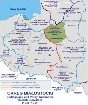 Bezirk Bialystok - Bezirk Bialystok in 1942.