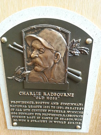 Charles Radbourn - Radbourn's plaque at the National Baseball Hall of Fame and Museum