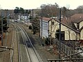 Old Madison station from Old Route 79 bridge, December 2015.JPG
