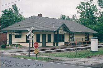 National Register of Historic Places listings in Chattooga County, Georgia - Image: Old RR Depot at Summerville, GA 001