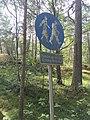 Old pedestrian path sign in Hanko, Finland.jpg