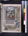 Opening of main text, miniature of John Evangelist. Initial, border design (NYPL b12455533-426018).tif
