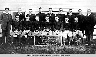 Oregon Ducks football - University of Oregon 1916 football team.