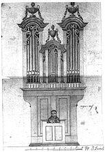 Orgel-Entwurf von Dummel für St. Leonhard ob Tamsweg 1837.JPG