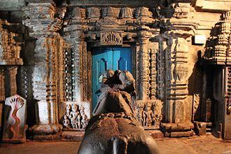 Koodli - Ornate entrance to the main shrine inside the Rameshvara temple