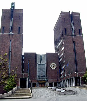 Oslo City Hall - Image: Oslo City Hall north