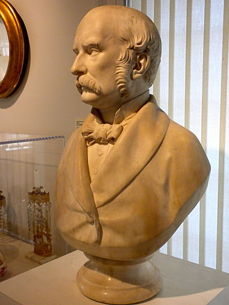 American Swedish Historical Museum - Bust of Lind's husband Otto Goldschmidt