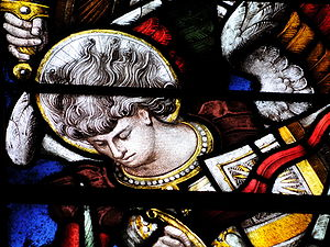 Detail of stained glass window at Christ Churc...
