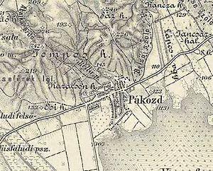 Pákozd - Image: Pákozd harmadik katonai felmérés térképe