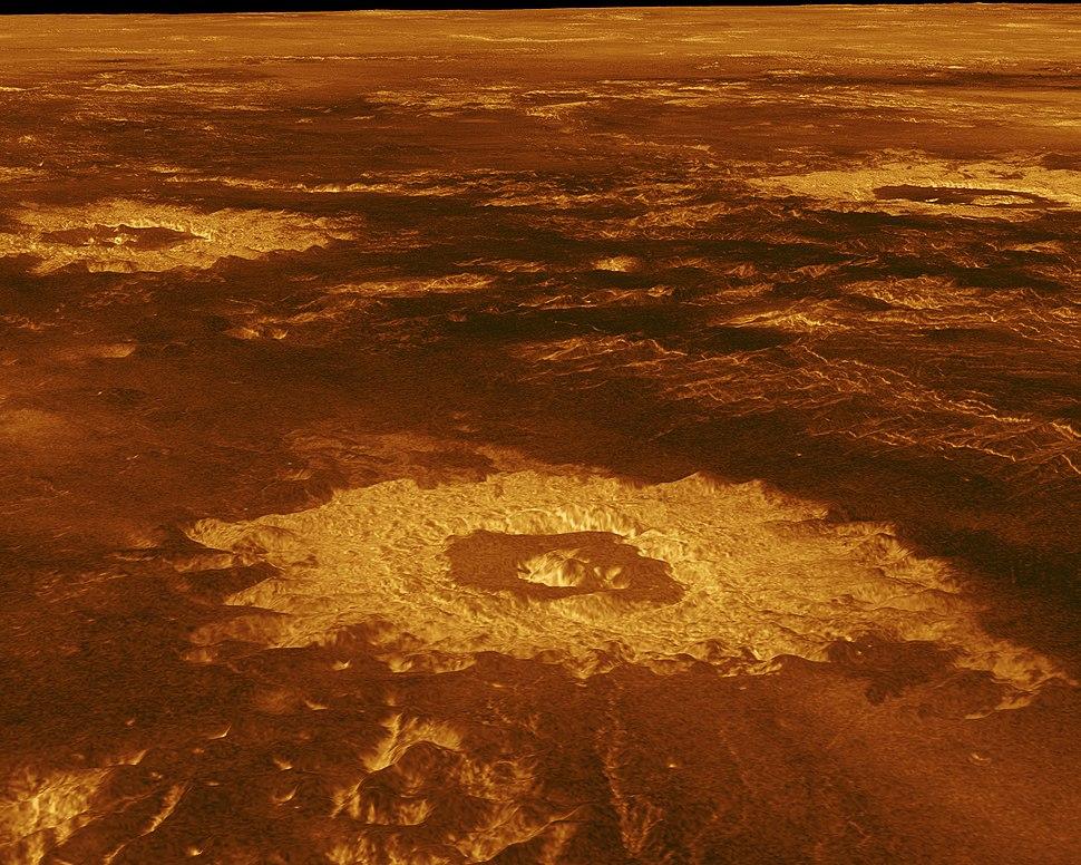 PIA00103 Venus - 3-D Perspective View of Lavinia Planitia