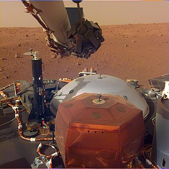 Mars landing - Insight Mars lander view in December 2018