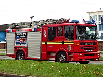 West Midlands Fire Service - Dennis Sabre XL Pump Rescue Ladder