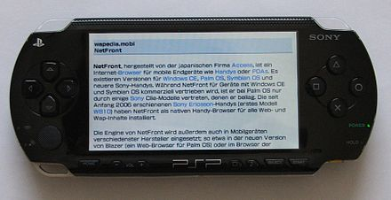 Web browser on a PSP-1000 PSP Browser.jpg