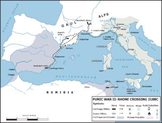 Battle of Rhone Crossing - Strategic Situation before Battle of Rhone Crossing