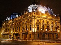 Pałac Izraela Poznańskiego Łódź front.JPG