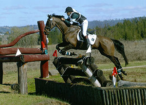 Sport in Pakistan - Pakistani rider during Cross (X) Country phase at Campden HT in Australia.