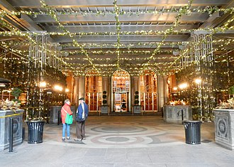 Lotte New York Palace Hotel - Courtyard, temporarily covered, 2012