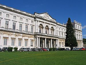 Ajuda - The rear facade of the Ajuda Palace