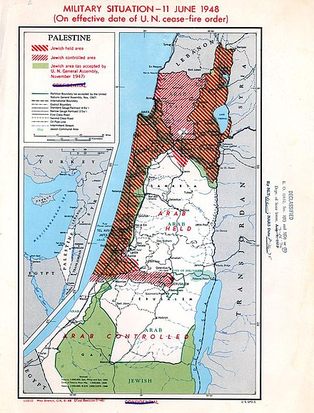 Palestine Military Situation, June 11, 1948. Truman Papers Palestine Military Situation, June 11, 1948, Truman Papers.jpg