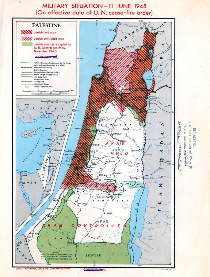 Palestine Military Situation, June 11, 1948, Truman Papers