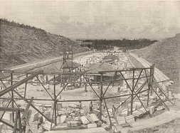 Reconstruction works at the stadium, 1895