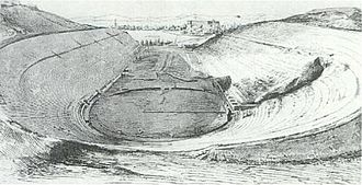 Panathenaic Stadium - The stadium 1870, following excavations by Ziller