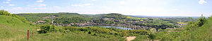 Sierck-les-Bains - Panorama of Sierck les bains from the Stromberg 180°
