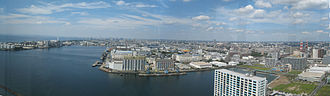 Chiba Port Tower - Panoramic view from the observation floor