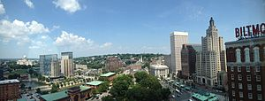 Kennedy Plaza - Panoramic view from 18th floor of the Biltmore Hotel